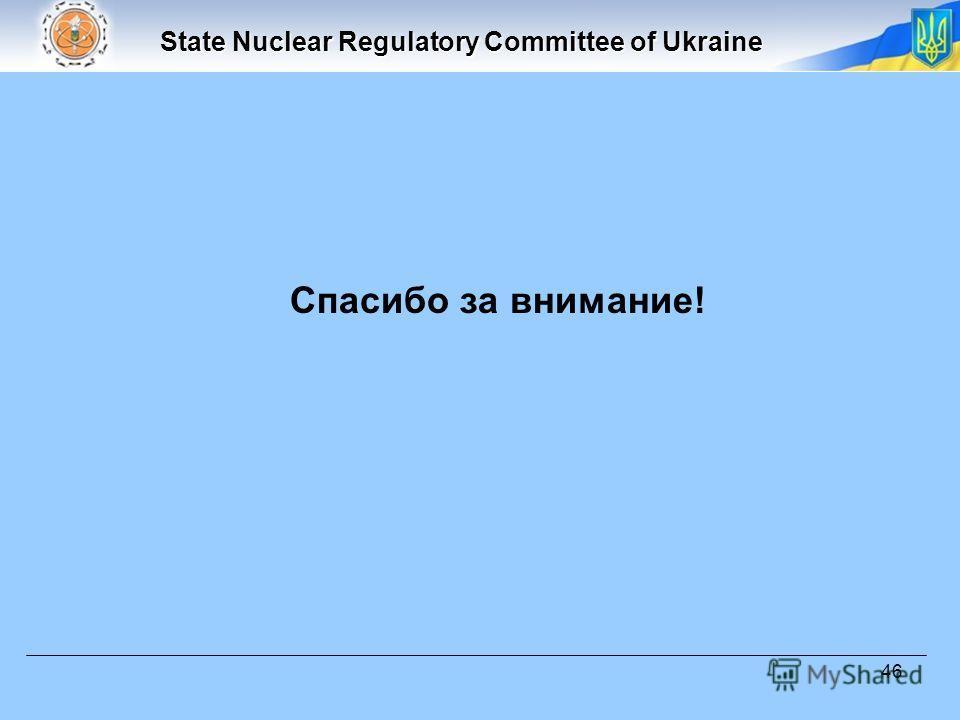 State Nuclear Regulatory Committee of Ukraine 46 Спасибо за внимание!