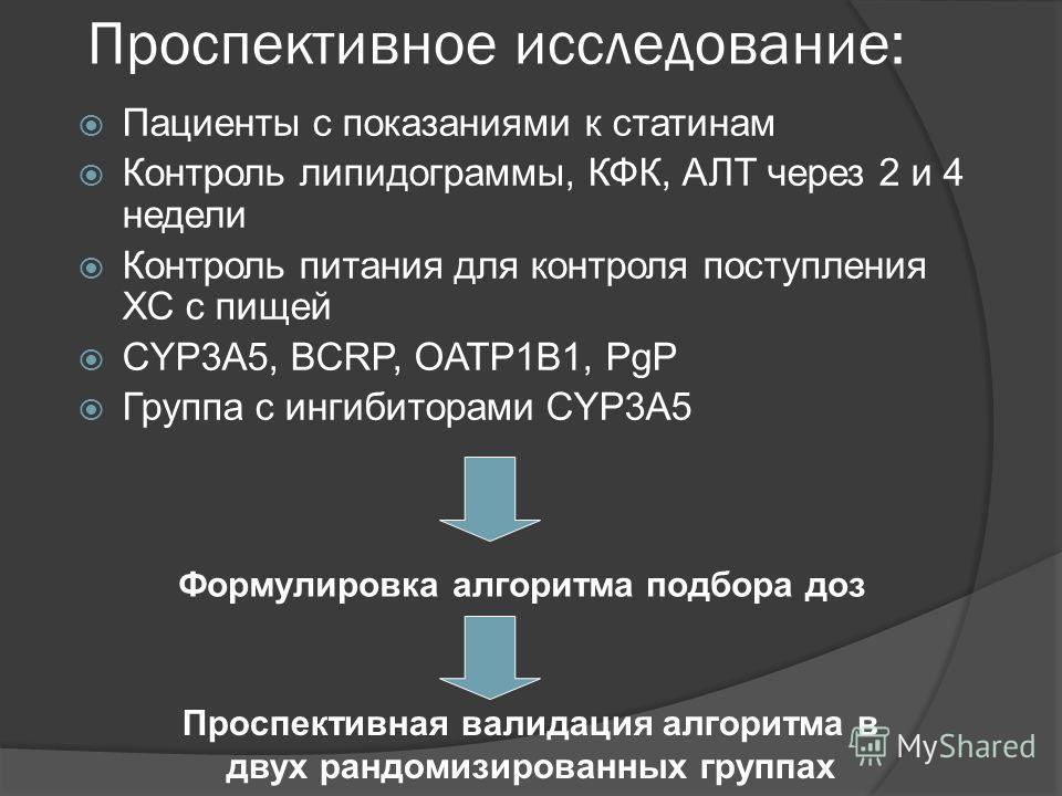контроль статинов