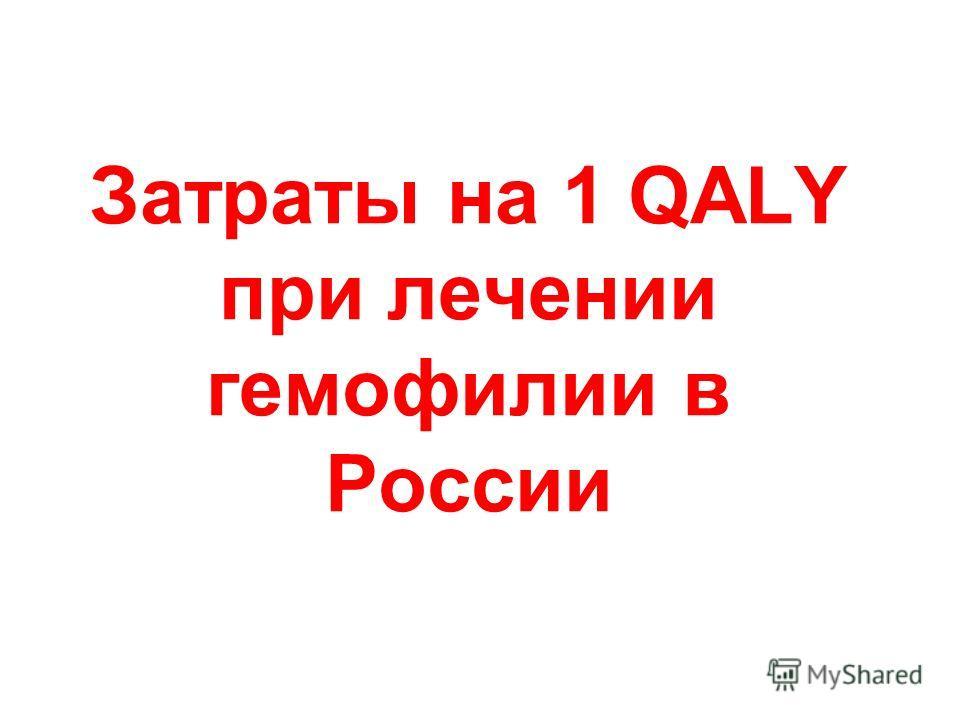 Затраты на 1 QALY при лечении гемофилии в России