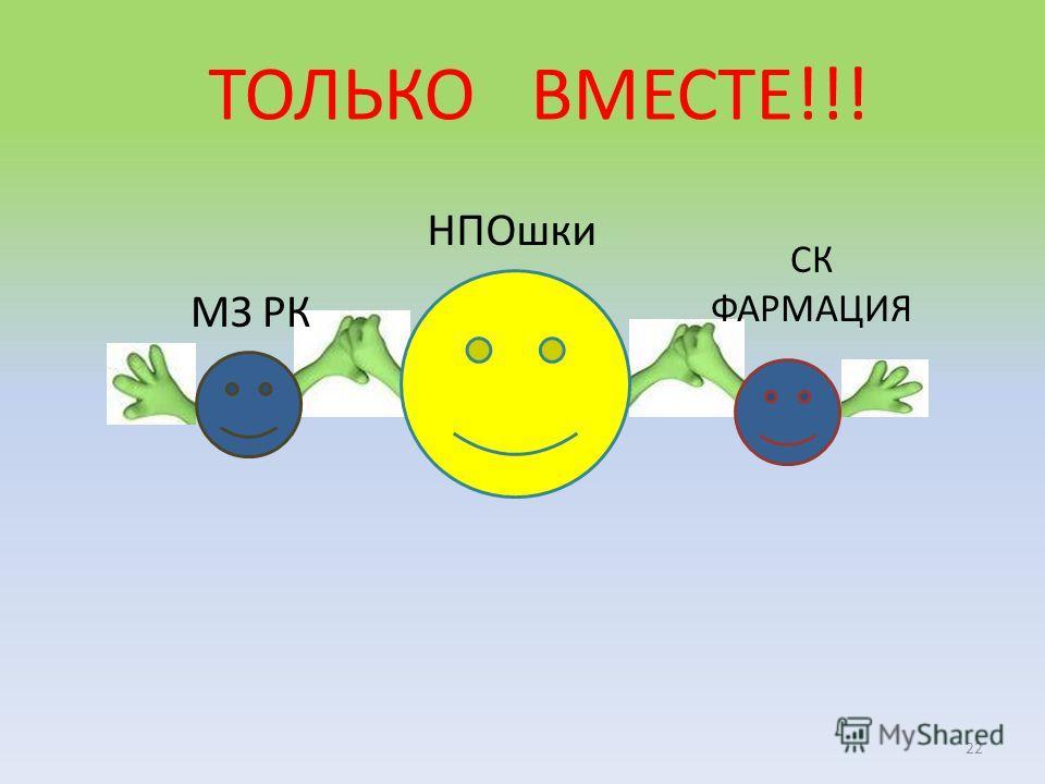 НПОшки ТОЛЬКО ВМЕСТЕ!!! 22 МЗ РК СК ФАРМАЦИЯ
