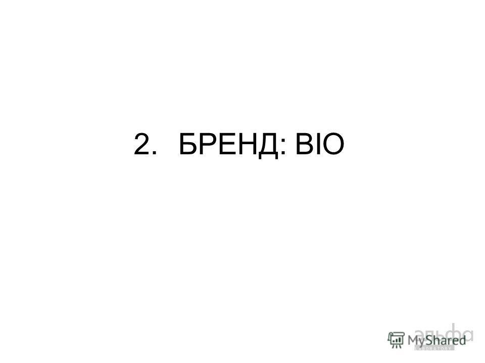 2.БРЕНД: BIO