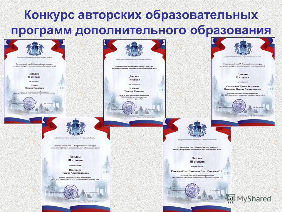 Конкурс авторских образовательных программ дополнительного образования