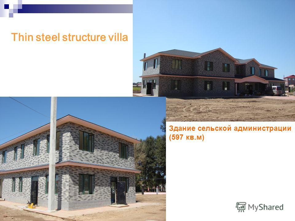 Thin steel structure villa Здание сельской администрации (597 кв.м)