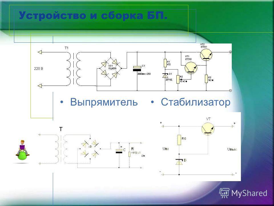 Устройство и сборка БП. ВыпрямительСтабилизатор