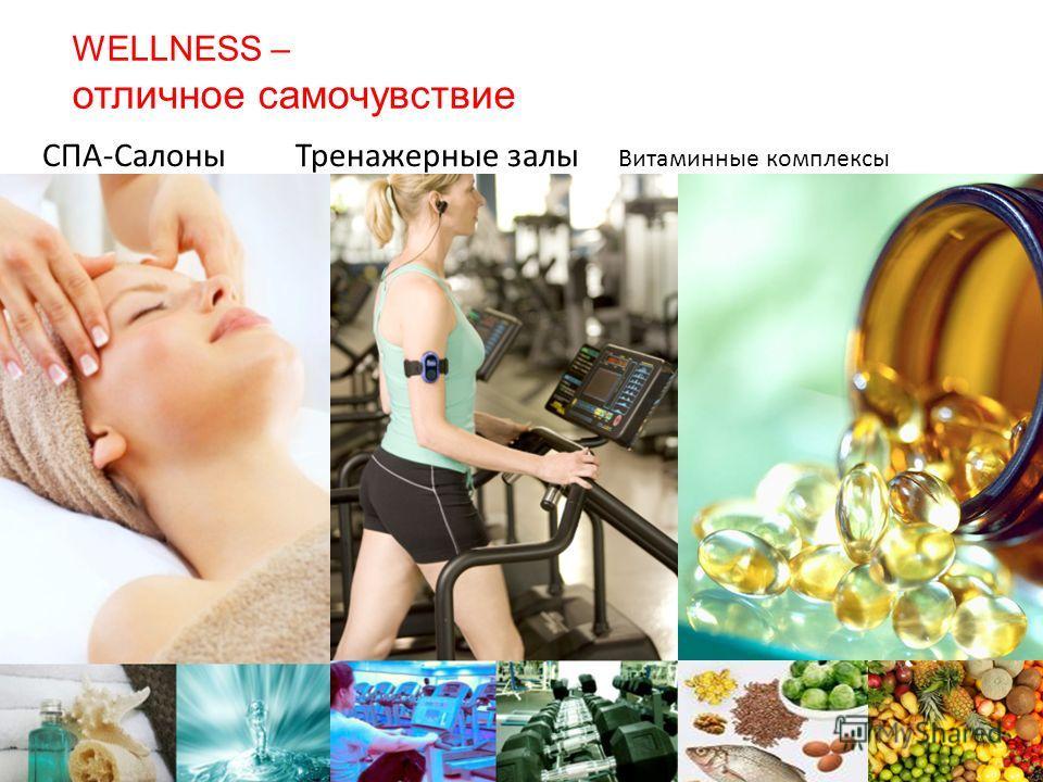СПА-Салоны Тренажерные залы Витаминные комплексы WELLNESS – отличное самочувствие