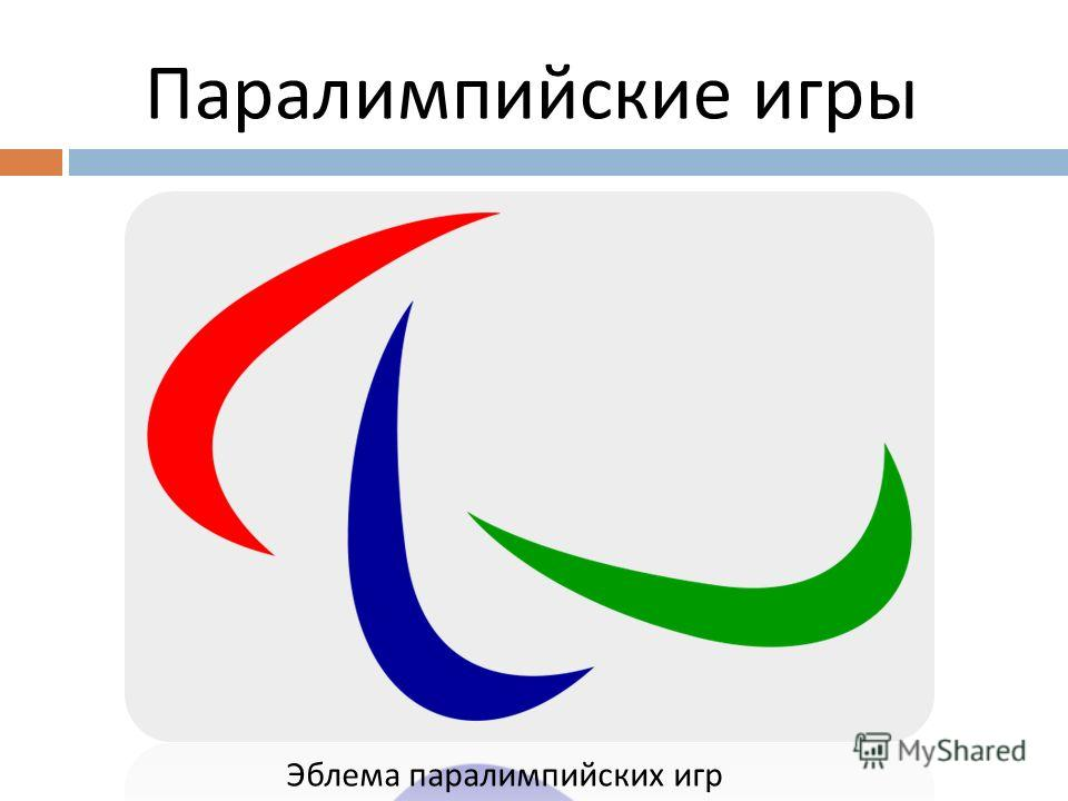 Паралимпийские игры Эблема паралимпийских игр