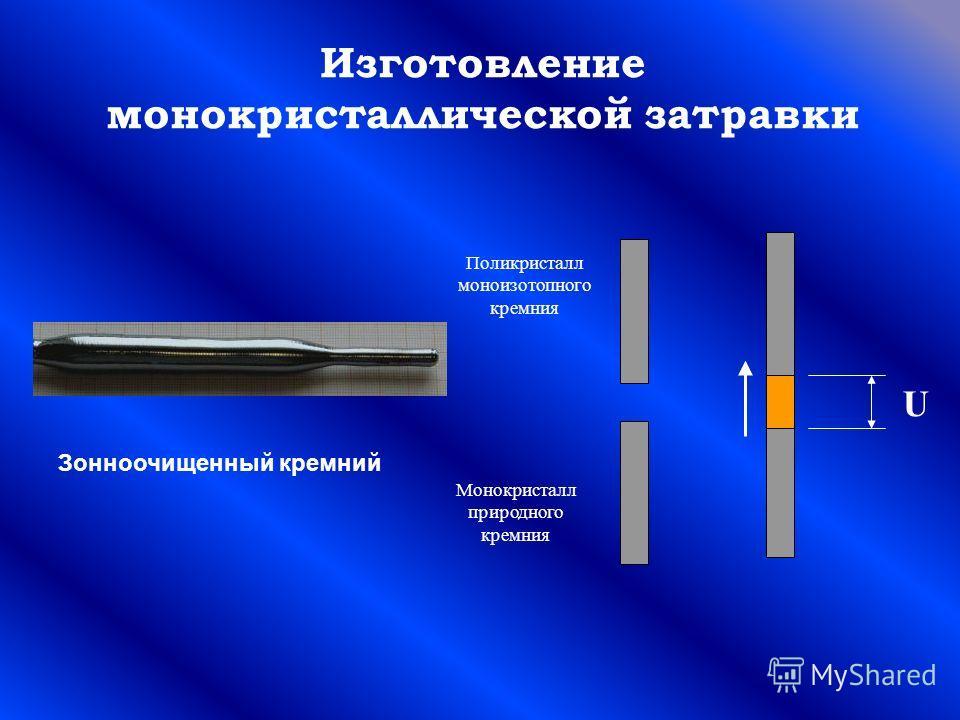 Изготовление монокристаллической затравки Зонноочищенный кремний Монокристалл природного кремния Поликристалл моноизотопного кремния U
