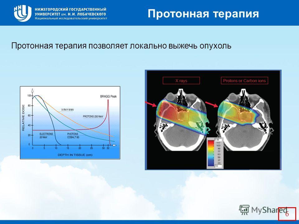 6 Протонная терапия позволяет локально выжечь опухоль Протонная терапия