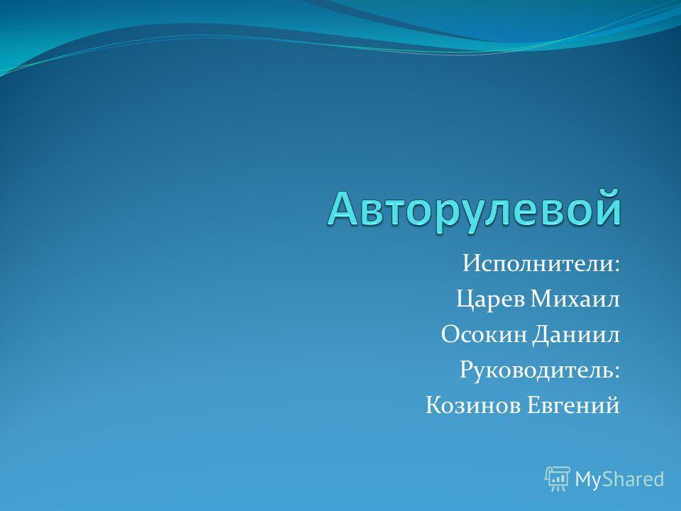 Исполнители: Царев Михаил Осокин Даниил Руководитель: Козинов Евгений