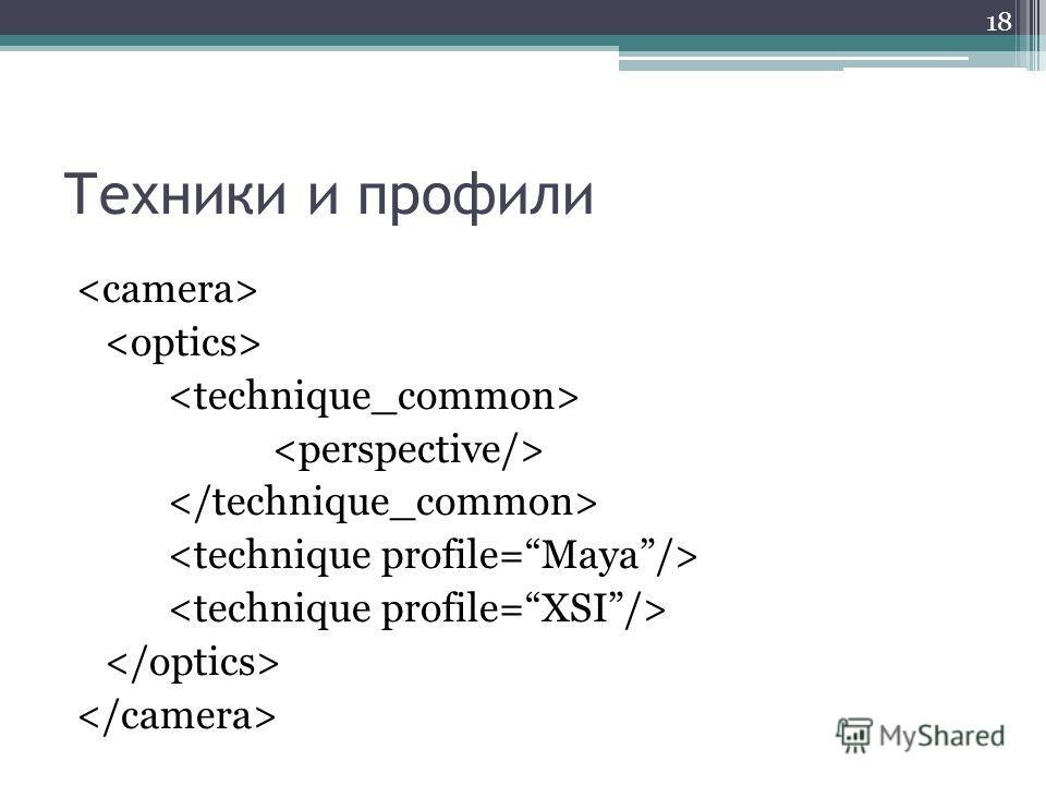 Техники и профили 18