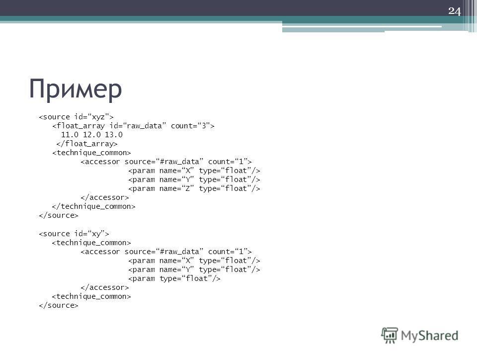 Пример 11.0 12.0 13.0 24