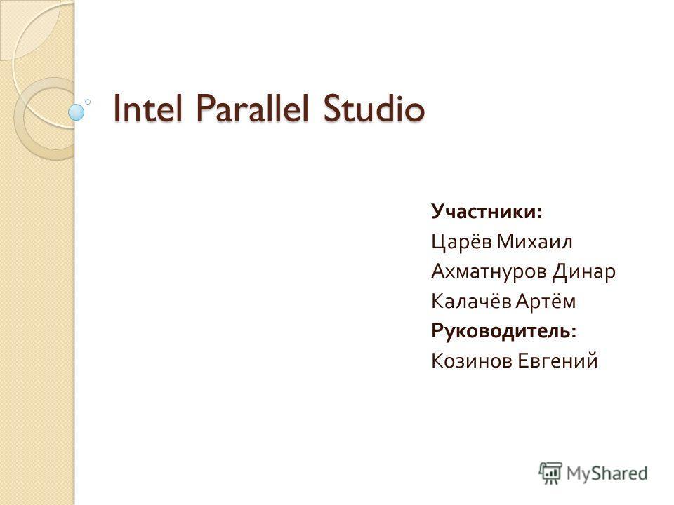 Intel Parallel Studio Участники : Царёв Михаил Ахматнуров Динар Калачёв Артём Руководитель : Козинов Евгений