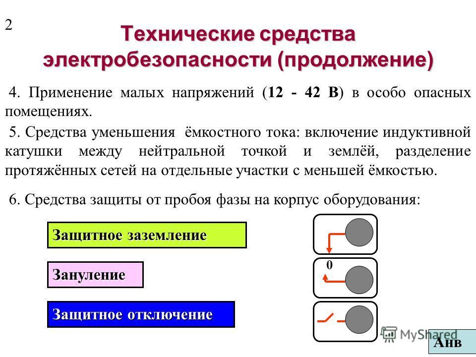 Средства электробезопасности делят на технические и защитные. Технические средства электробезопасности 1. Выбор электрооборудования соответствующего исполнения в зависимости от условий эксплуатации (защищённое, брызгозащищённое, взрывозащищённое и др