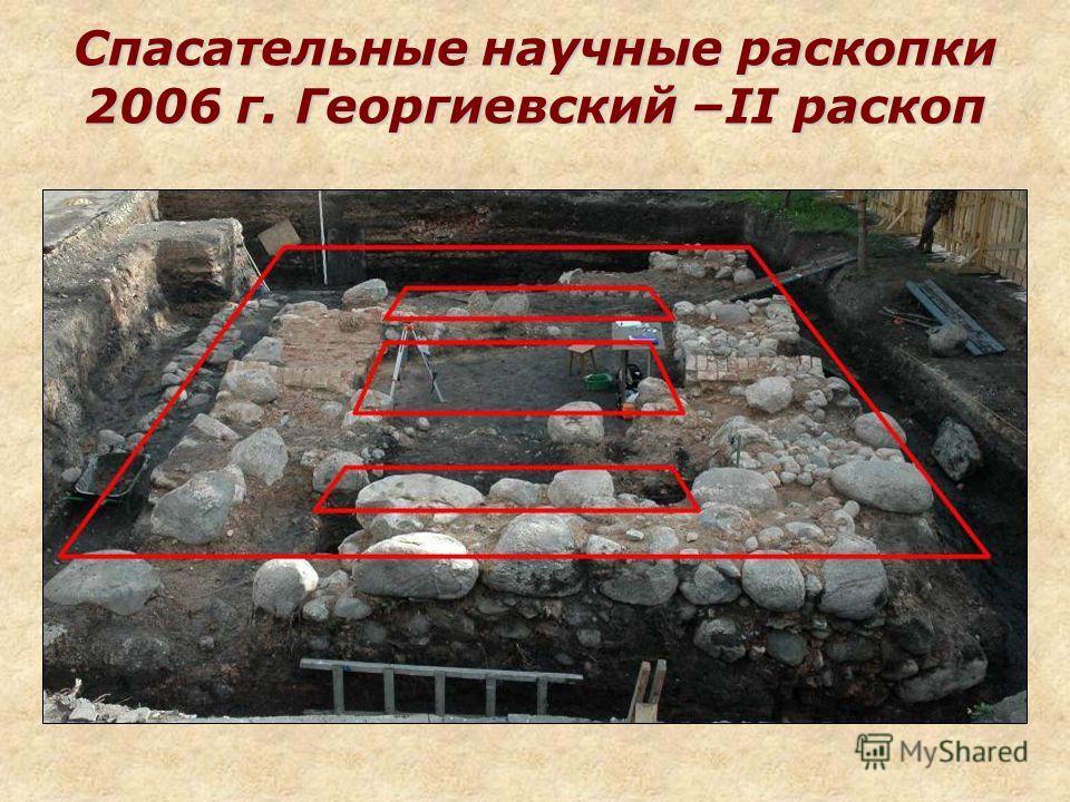 Спасательные научные раскопки 2006 г. Георгиевский –II раскоп