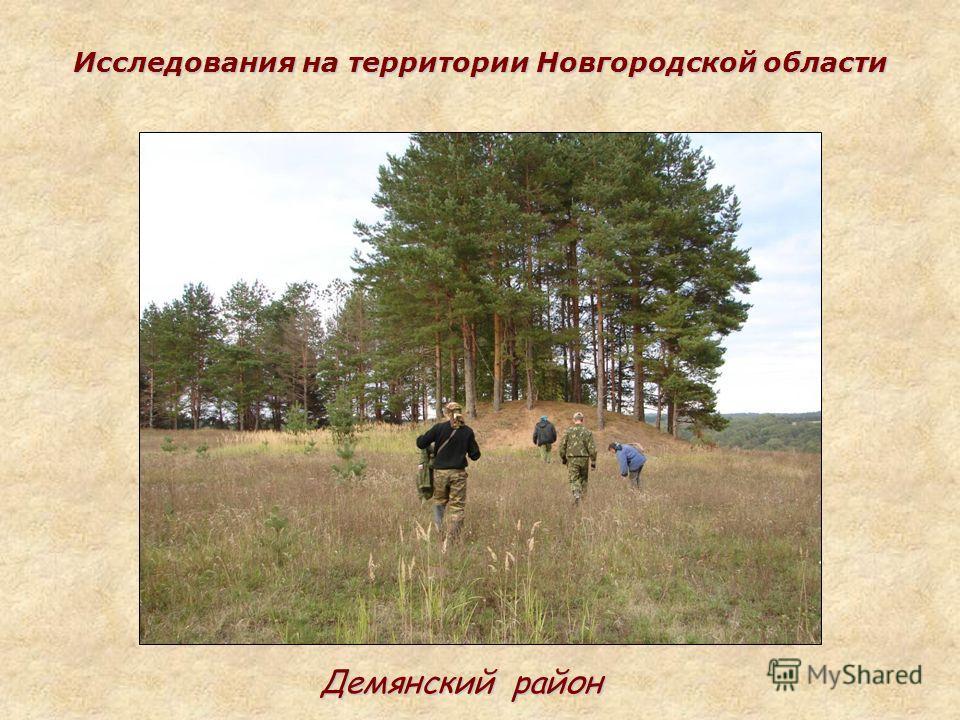 Исследования на территории Новгородской области Демянский район