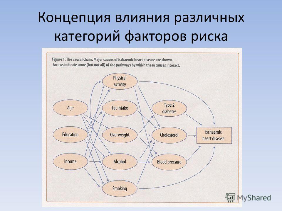 Концепция влияния различных категорий факторов риска