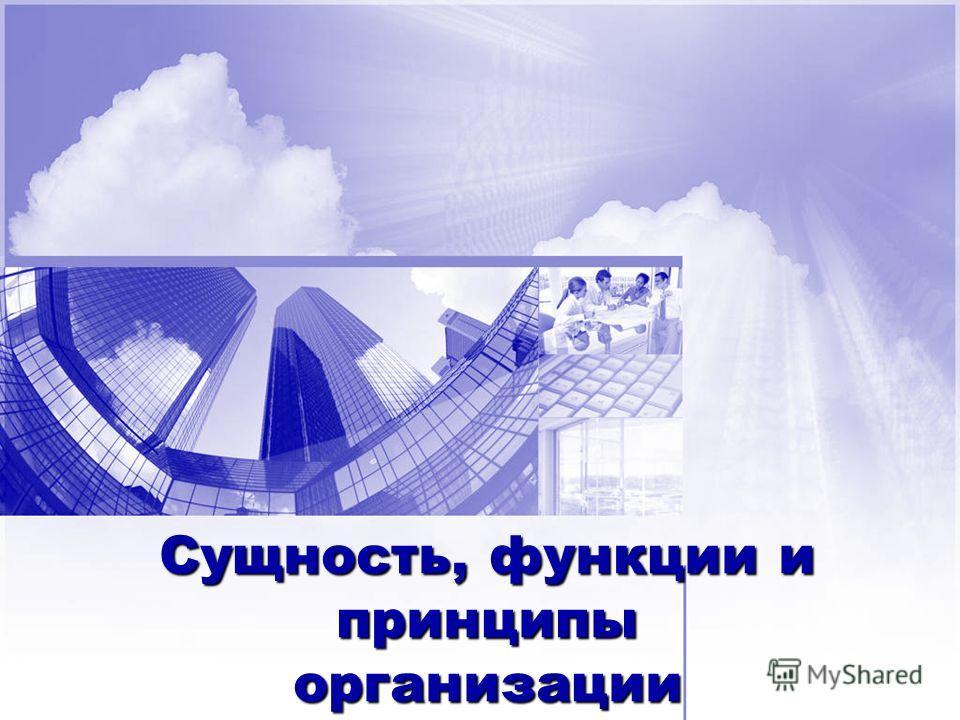 Сущность, функции и принципы организации финансов предприятия