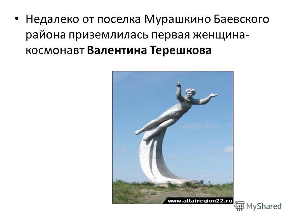 Недалеко от поселка Мурашкино Баевского района приземлилась первая женщина- космонавт Валентина Терешкова