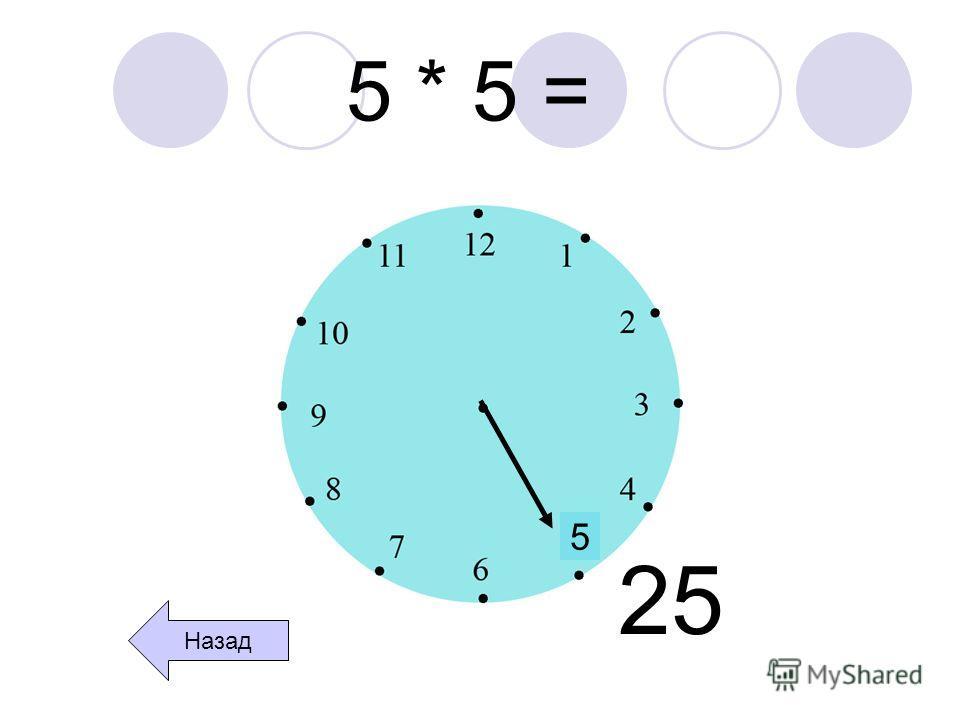5 * 5 = 5 25 Назад