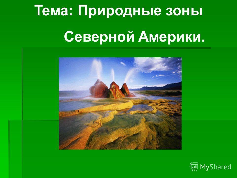 Тема: Природные зоны Северной Америки.