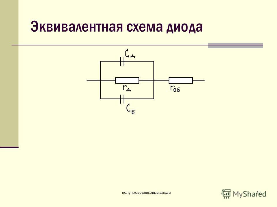 полупроводниковые диоды13 Эквивалентная схема диода