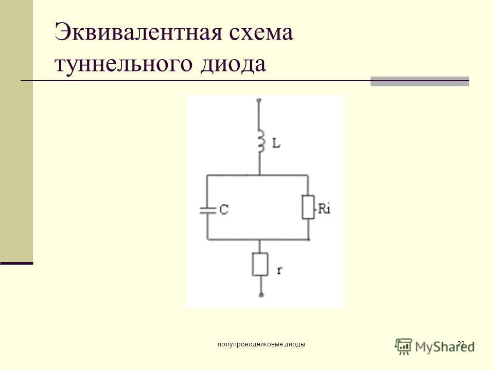 полупроводниковые диоды22 Эквивалентная схема туннельного диода