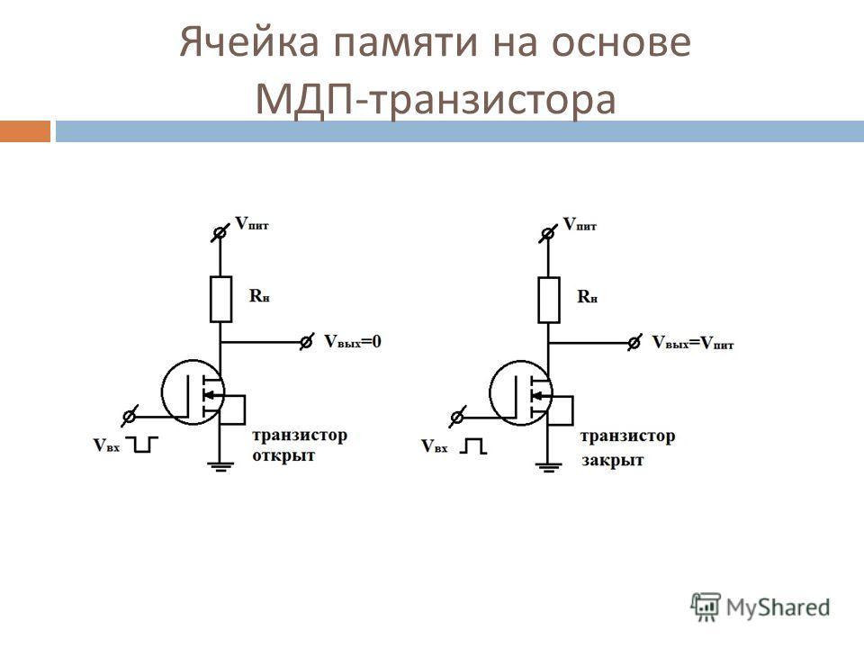 Ячейка памяти на основе МДП - транзистора