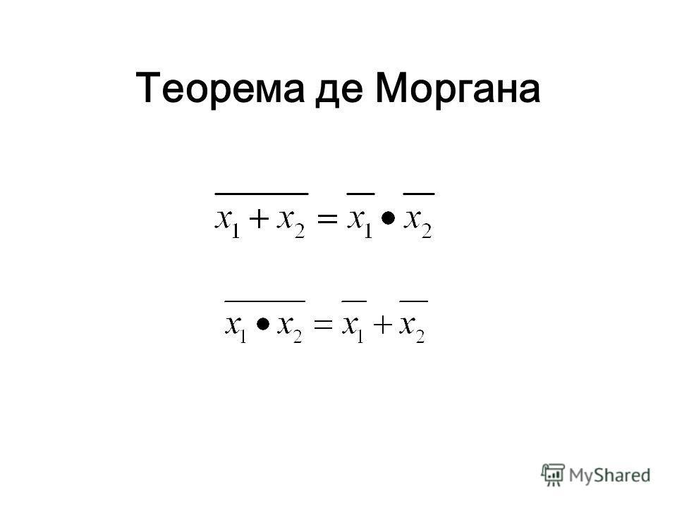 Теорема де Моргана