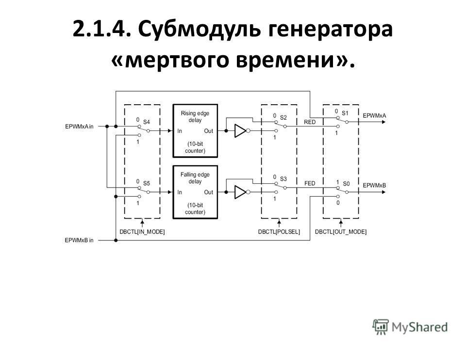 2.1.4. Субмодуль генератора «мертвого времени».