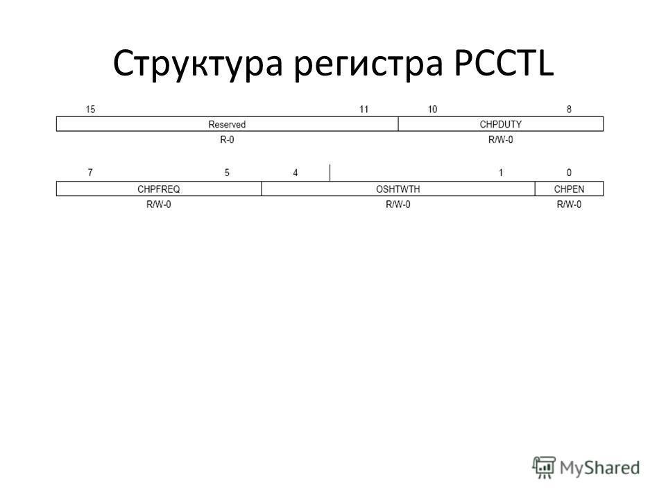 Структура регистра PCCTL