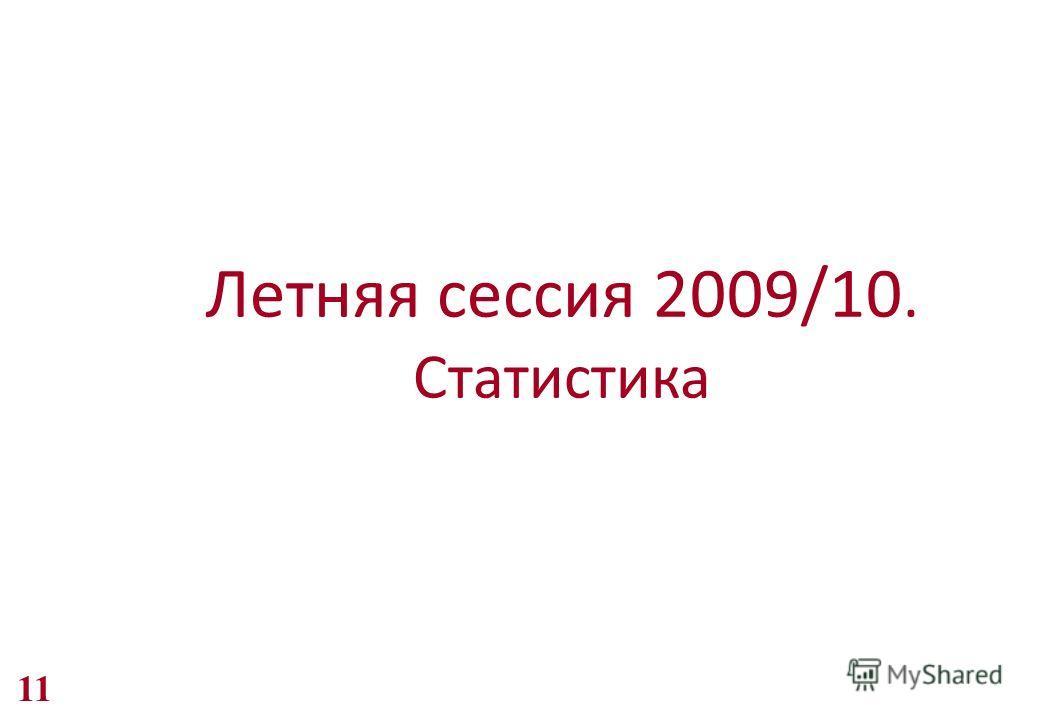 Летняя сессия 2009/10. Статистика 11