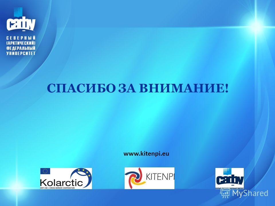 СПАСИБО ЗА ВНИМАНИЕ! www.kitenpi.eu