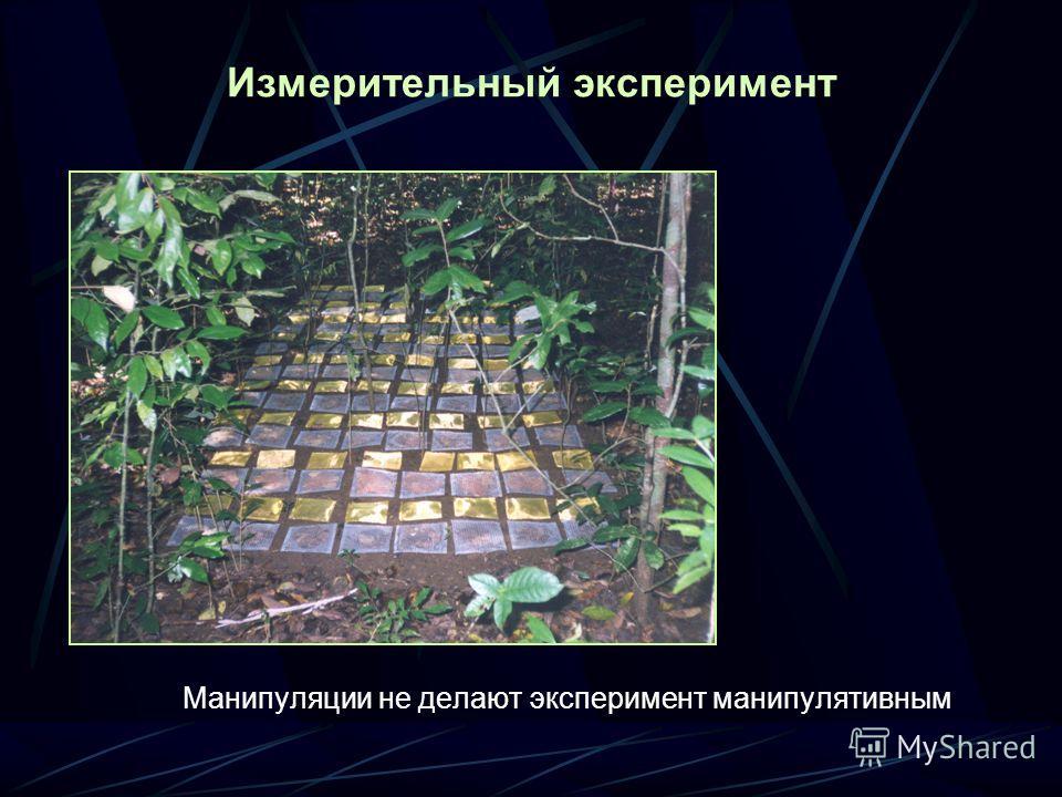 Измерительный эксперимент Манипуляции не делают эксперимент манипулятивным