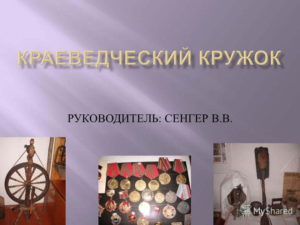 РУКОВОДИТЕЛЬ : СЕНГЕР В. В.