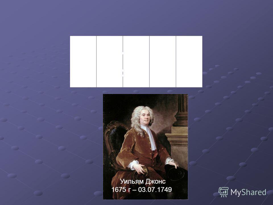 ДЖОНС Уильям Джонс 1675 г – 03.07.1749