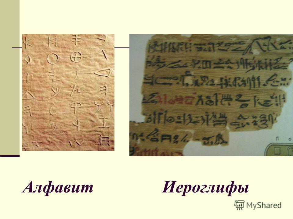 Алфавит Иероглифы