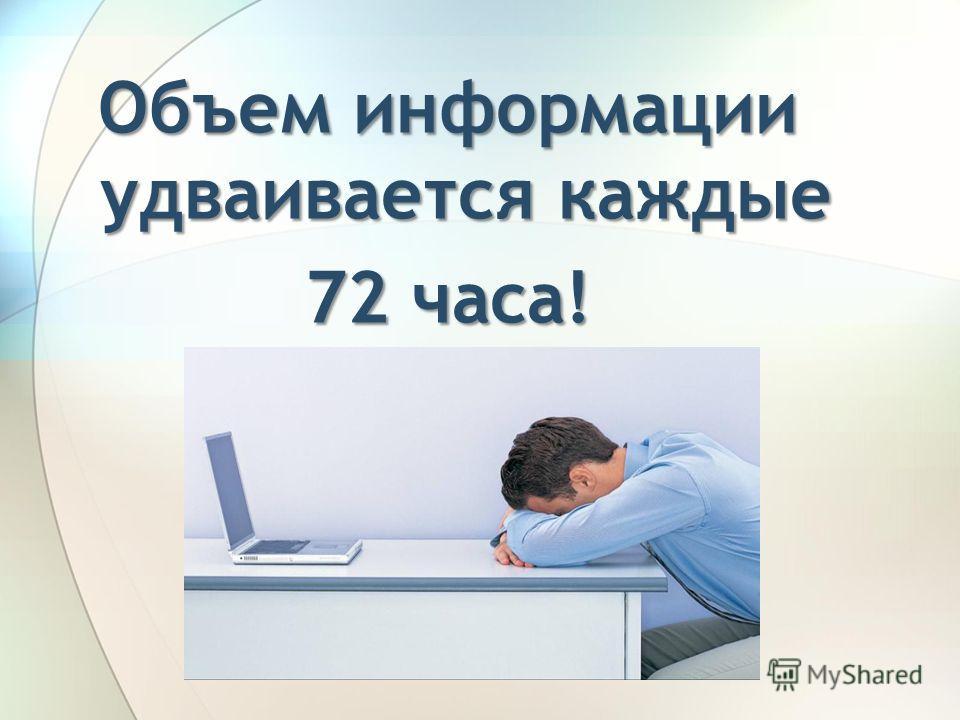 Объем информации удваивается каждые 72 часа!