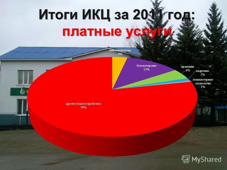 Итоги ИКЦ за 2011 год: платные услуги