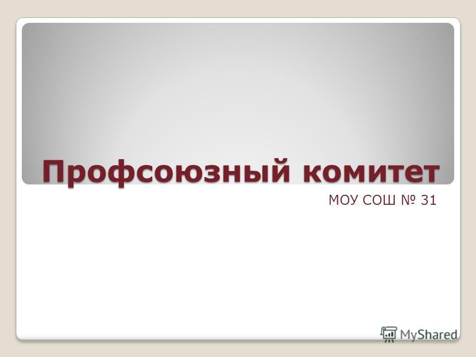 Профсоюзный комитет МОУ СОШ 31
