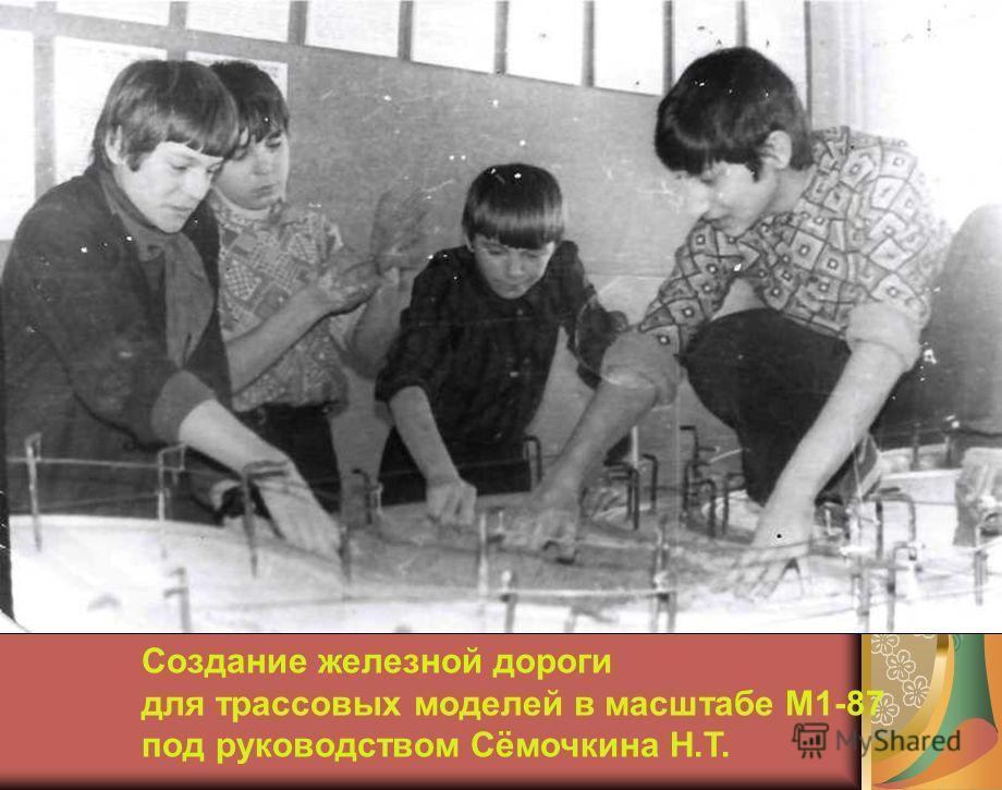 Создание железной дороги для трассовых моделей в масштабе М1-87 под руководством Сёмочкина Н.Т.