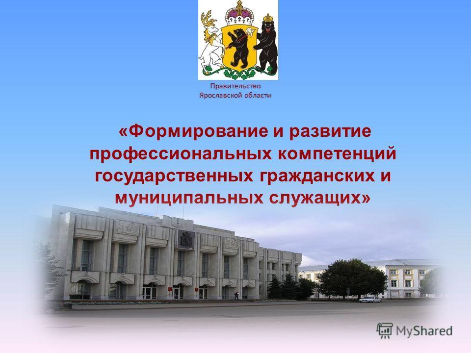 Правительство Ярославской области «Формирование и развитие профессиональных компетенций государственных гражданских и муниципальных служащих»