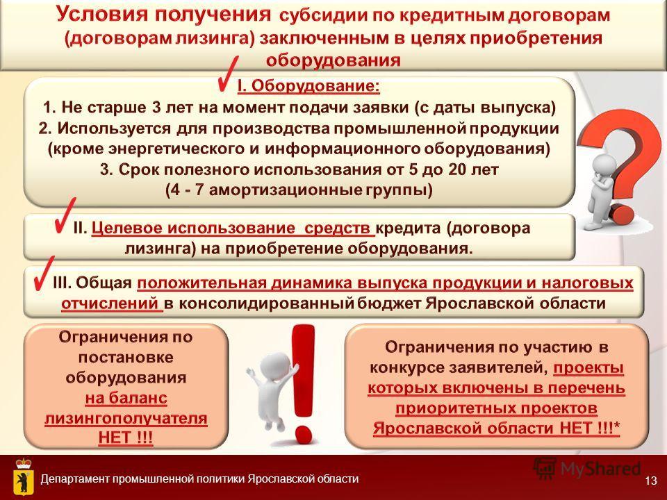 Департамент промышленной политики Ярославской области 13