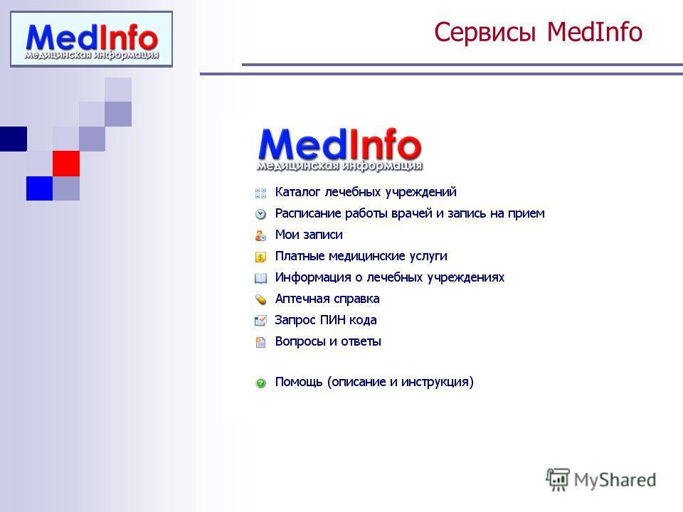 Сервисы MedInfo