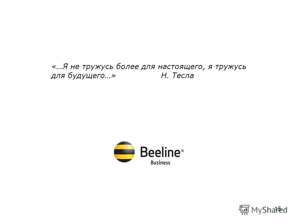 3G b2b «…Я не тружусь более для настоящего, я тружусь для будущего…» Н. Тесла 15