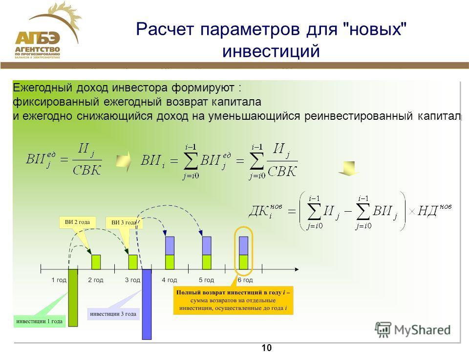 10 Расчет параметров для