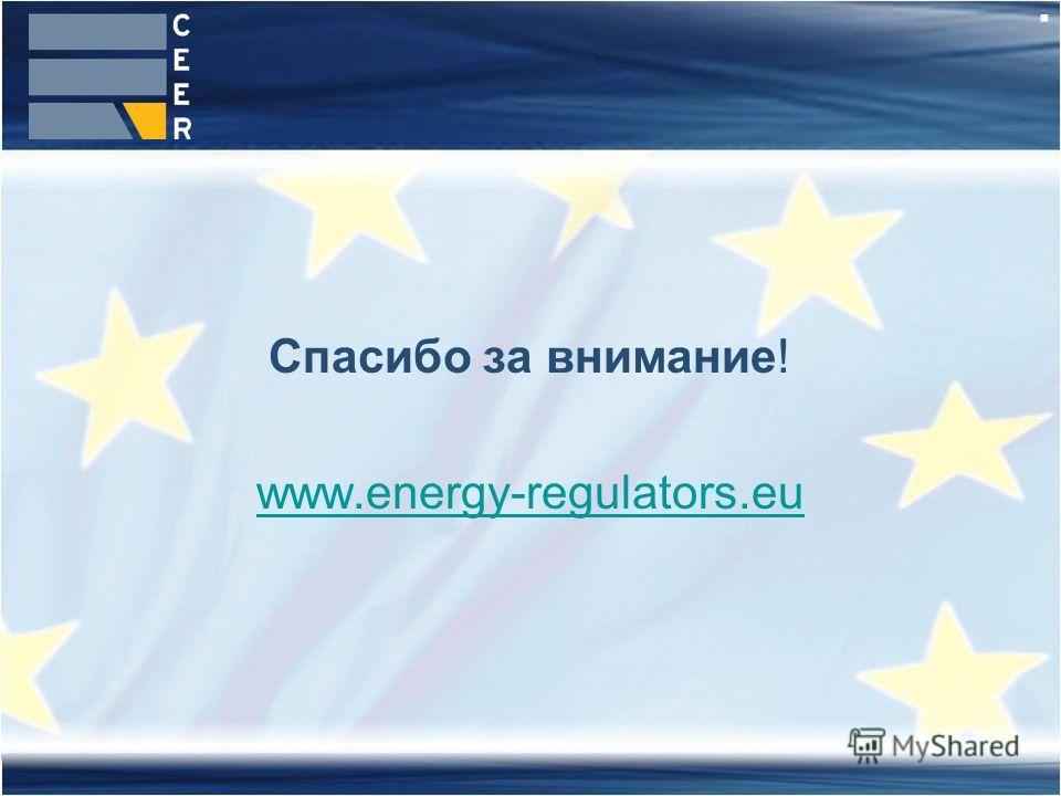 . Спасибо за внимание! www.energy-regulators.eu