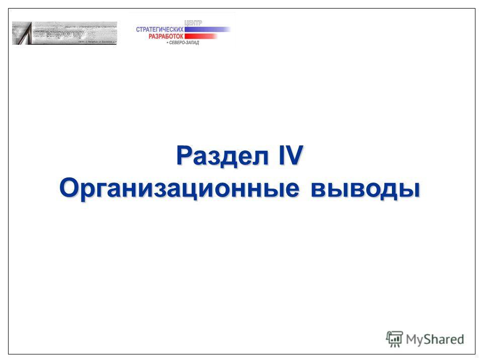 Раздел IV Организационные выводы