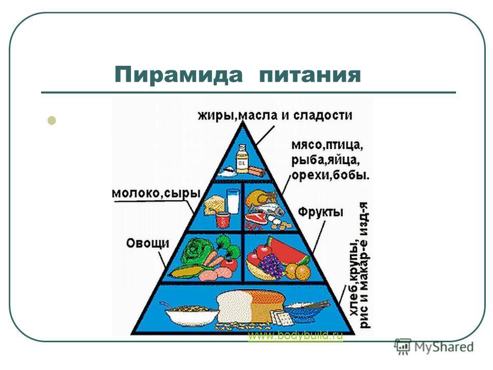Пирамида питания www.bodybuild.ru