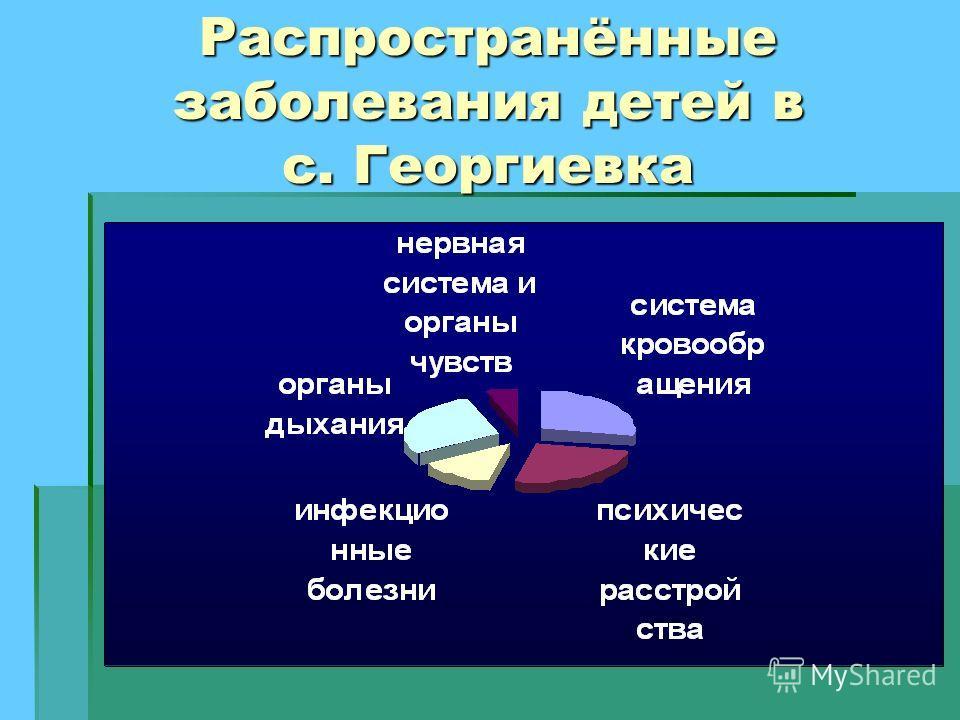 Распространённые заболевания детей в с. Георгиевка