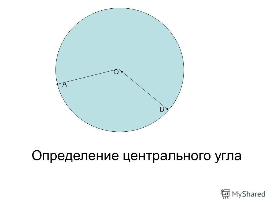 О А В Определение центрального угла